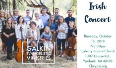 Irish Concert - Oct 18 2018 7:00 PM