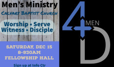 4D Men's Ministry - December 2018 - Dec 15 2018 8:00 AM