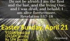 Easter Sunday - April 21, 2019