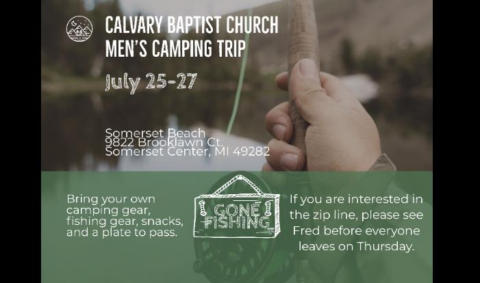 Men's Camping Trip 2019 - Jul 25 2019