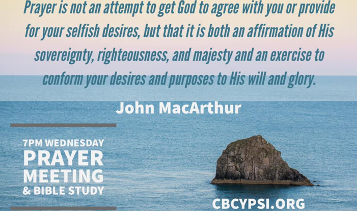 Wednesday Night Prayer Meeting and Bible Study