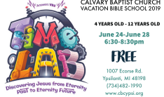 Calvary Baptist Church Vacation Bible School 2019 - Daily 6:30 PM