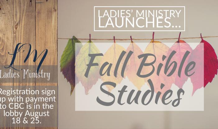 Ladies' Fall Bible Studies 2019