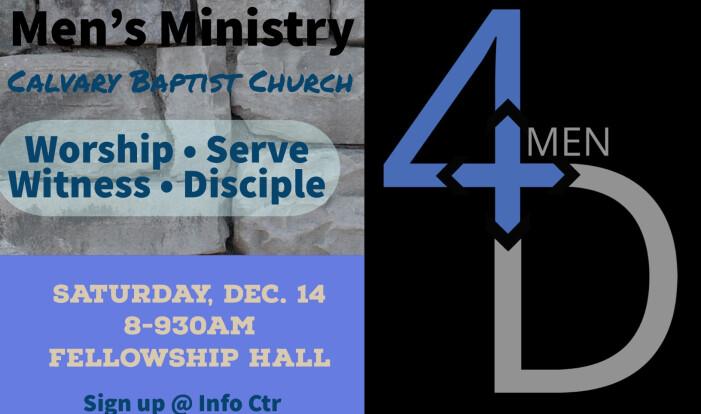4D Mens Ministry December 14, 2019