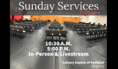 Sunday Services in the Gym