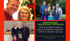 Missionary Christmas Offering 2020 - Nov 1 2020
